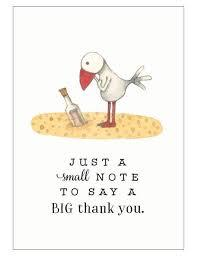 T326 Just a small note Thank You Mini card