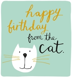 Card - Happy Birthday from the Cat