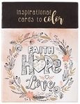Boxed Coloring Cards Faith Hope Love