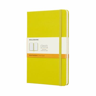 large lined dandelion yellow hardcover