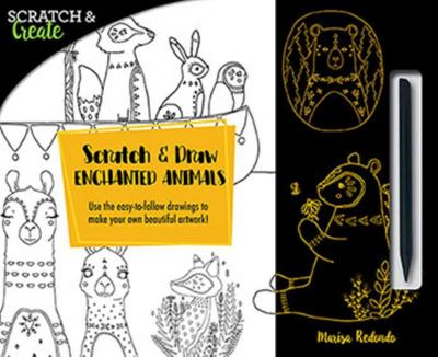 "Scratch and Draw Enchanted Animals[""Use the Easy-to-follow Drawings to Make Your Own Beautiful Artwork!""]"