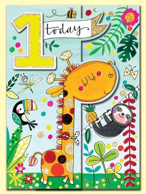 1 Today Giraffe card