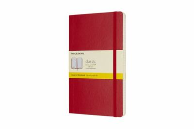 Moleskine Classic Soft Cover Notebook Grid Large Scarlet Red