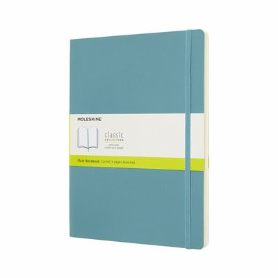 Moleskine Classic Notebook, Extra Large, Plain, Blue Reef, Soft Cover
