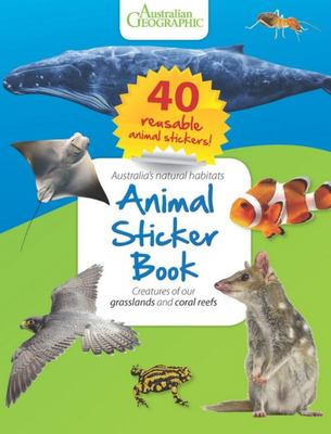 Animal Sticker Book: Reefs and Grasslands