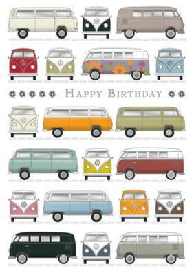 Card - VW Happy Birthday