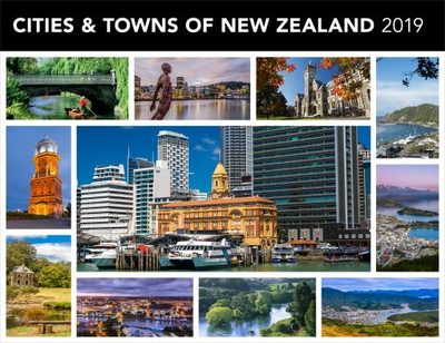 Cities & Towns of New Zealand 2019 Horizontal Calendar