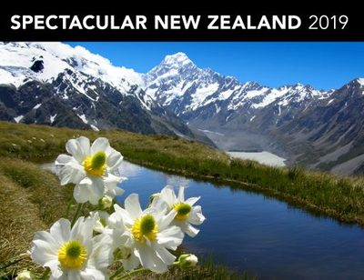Spectacular New Zealand 2019 Horizontal Calendar