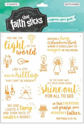 Stickers Mathew 5:14-16
