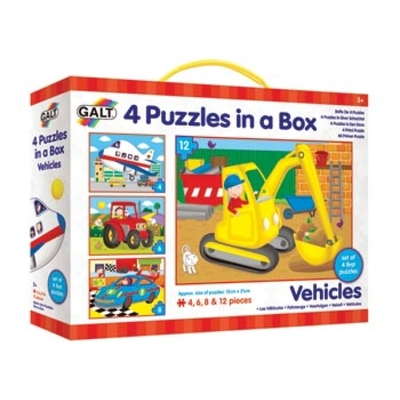 Vehicles Four Puzzles in a Box
