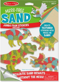 Mess Free Sand Foam Stickers Dinosaurs