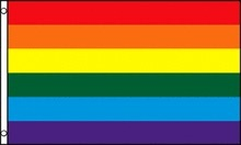 Flag – Rainbow Pride Nylon w Grommets (4ft x 6ft )