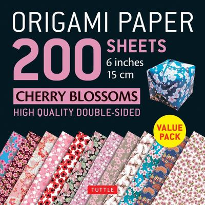 Origami Paper: Cherry Blossom Patterns - 200 Sheets (15 cm)