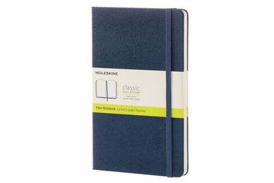 Moleskine Notebook Classic Large Plain Blue