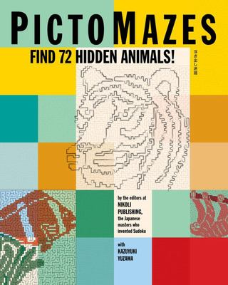 PictoMazes: 52 Hidden Animal Pictures to Solve and Color