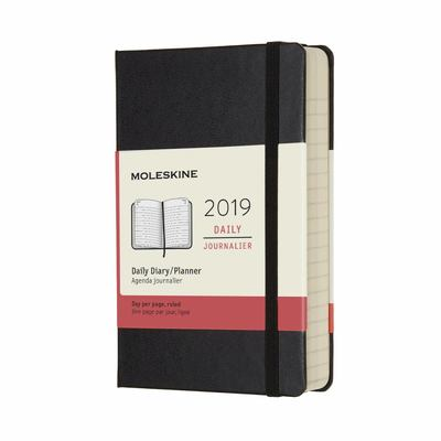 2019 Daily Black Pocket Hardcover Diary Moleskine
