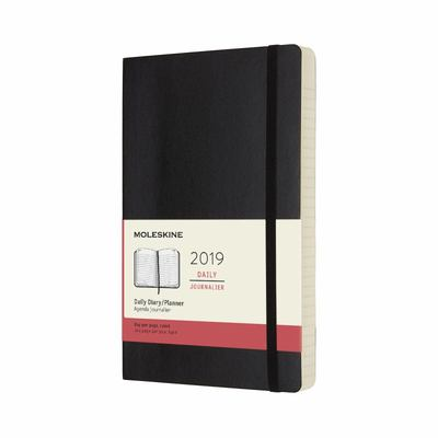 2019 Daily Black Large Softcover Diary Moleskine