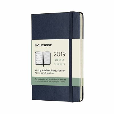 2019 Weekly Notebook Sapphire Blue Pocket Hardcover Diary Moleskine