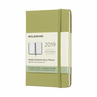 2019 Weekly Notebook Lichen Green Pocket Hardcover Diary Moleskine
