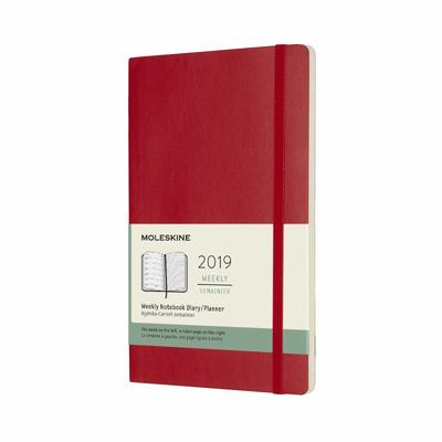 2019 Weekly Notebook Red Large Softcover Diary Moleskine