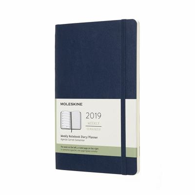 2019 Weekly Notebook Sapphire Blue Large Softcover Diary Moleskine