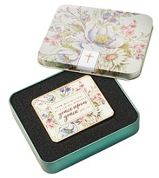 Visor Clip in Tin Grace Upon Grace Floral