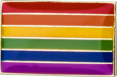 Lapel Pin – Rainbow Pride small (18mm x 11mm)