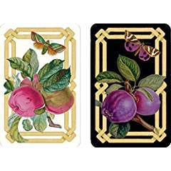 Caspari Bridge Playing Card Gift Set - Decoupage Garden