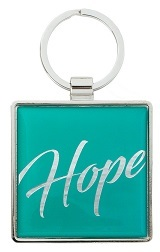 Keyring Hope Teal Metal