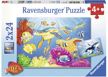 Rburg - Colourful Underwater World Puzzle 2x24pc