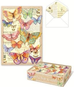 Butterfly Note Cards 10 Blank Cards with Envelopes