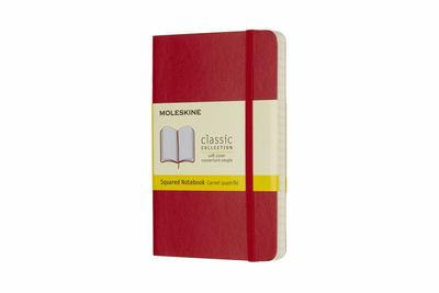 Moleskine Classic Soft Cover Notebook Grid Pocket Scarlet Red