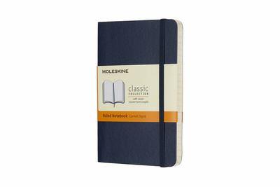 Moleskine - Classic Soft Cover Notebook - Ruled - Pocket - Sapphire Blue