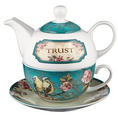 Teapot For 1 Set Trust Teal