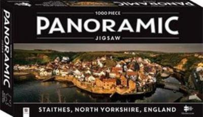 Staithes, North Yorkshire, England (Panoramic Puzzle 1000 piece jigsaw)