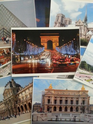 A4 French Landmarks Posters - Mixed Pack (laminated)