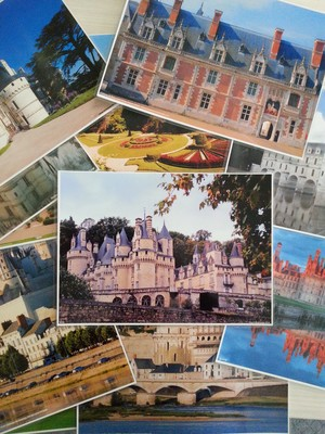 A4 French Castles Posters - Mixed Pack (laminated)
