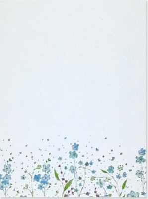 Boxed Stationery Set: Blue Flowers