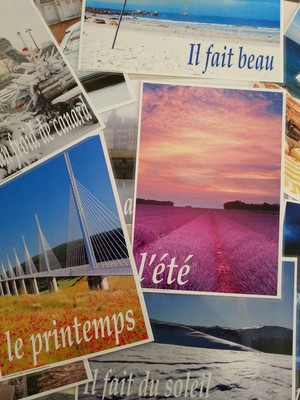 A4 French Seasons/Weather Posters - Mixed Pack (laminated)