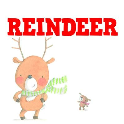 Little Reindeer Who Lost His Presents (Xmas Stock)