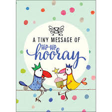 A Tiny Message of Hip-Hip Hooray - message box