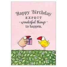 Expect wonderful things to happen - Mini birthday card
