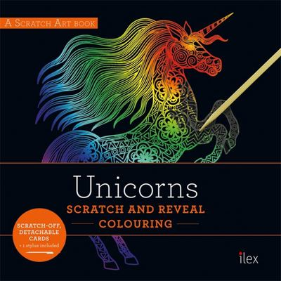 UNICORNS: Scratch and Reveal Colouring - Colourful Cards to Scratch, Reveal and Display