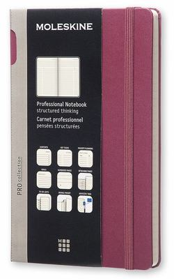 Professional Plum Large Hardcover Moleskine Notebook