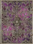 Silver Filigree Aubergine Ultra Lined