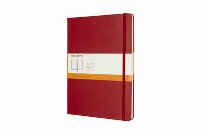 Scarlet Red Extra Large Hardcover Ruled Moleskine Notebook