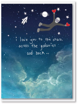 Love Stars Galaxies Card