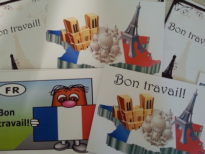 Bon Travail Cards (Pack of 20 + 1 Bonus)