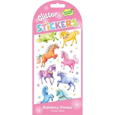 Rainbow Ponies Glitter Stickers
