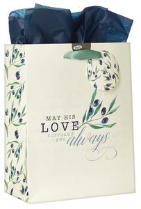 Gift Bag May His Love Olive Design Medium